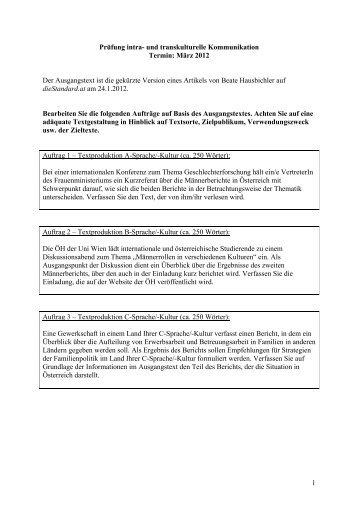 PIK-Prüfung vom März 2012