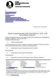 Referat fra bestyrelsesmøde i DGS, 30.09.2009 fra kl ... - fra DSGH