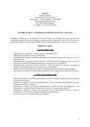 Avis préalable à l'assemblée générale mixte du 11 mai 2011 - Nexity