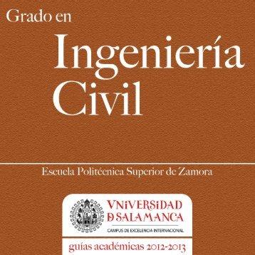 Grado en Ingeniería Civil - Universidad de Salamanca