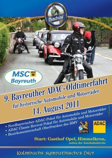 Ausschreibung als PDF - MSC Bayreuth