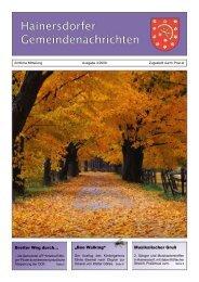 Gemeindezeitung 03-09 (889 KB) - Gemeinde Hainersdorf