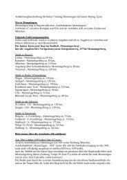 Anfahrtswegbeschreibung (Empfehlung) - Junior Racing Team