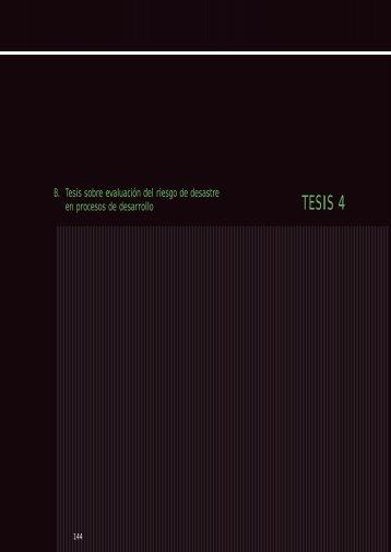 Parte 2. Tesis sobre Evaluación del Riesgo de desastre en ... - PDRS