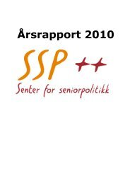 Årsrapport 2010 - Senter for seniorpolitikk