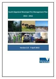 South Gippsland Municipal Fire Management Plan 2013 – 2016 ...