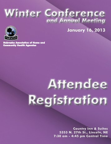 Attendee Registration - Nebraska Association of Home and ...