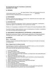 Stadgar för lokalavdelningar - Svenska Taxklubben