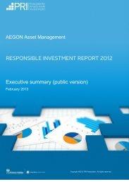 Aegon Asset Management Responsible Investment Report 2012