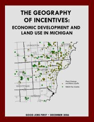 The Geography of Incentives: Economic - Good Jobs First