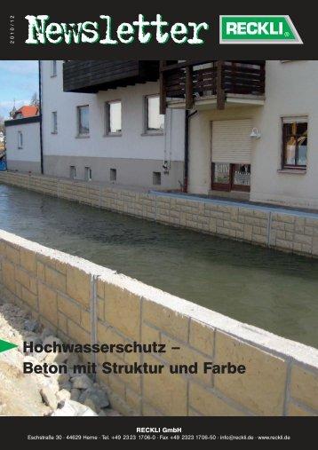 Hochwasserschutz – Beton mit Struktur und Farbe - RECKLI GmbH ...