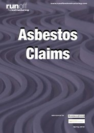Asbestos Claims - Run-off & Restructuring