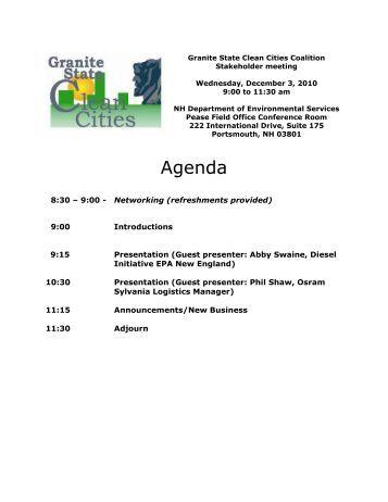 Agenda - Granite State Clean Cities Coalition