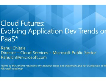 Cloud Futures: Evolving Application Development Trends On the