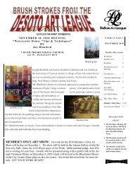 the november 2010newsletter - desoto art league