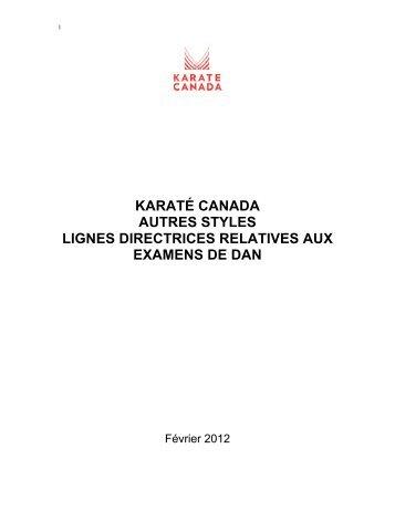 KC OTHERSTYLES_Dan Test ... - Karate Canada