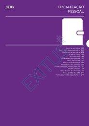 ORGANIZAÇÃO PESSOAL 2013 - Exitus