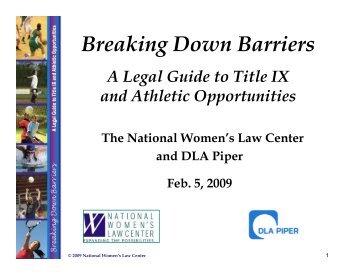Breaking Down Barriers - National Women's Law Center