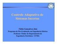 Controle Adaptativo de Sistemas Incertos