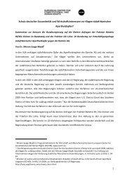 Schutz deutscher Souveränität und Wirtschaftsinteressen vor Klagen ...