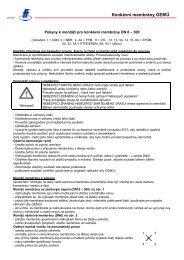 Konkávní membrány GEMÜ - FLUIDTECHNIK BOHEMIA, sro