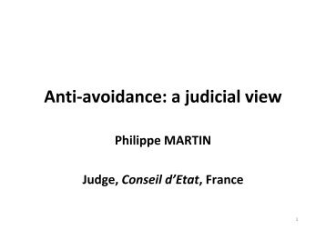 Anti-avoidance: a judicial view - Foundation for International Taxation