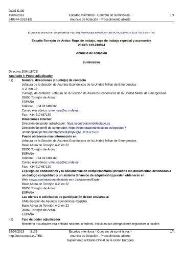 España-Torrejón de Ardoz: Ropa de trabajo, ropa de trabajo ...