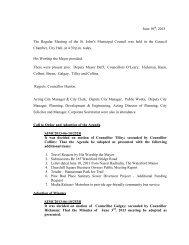 Council Minutes Monday, June 10, 2013 - City of St. John's