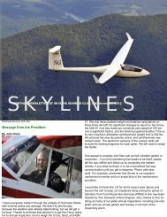 Message from the President - Skyline Soaring Club