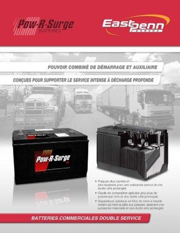 Batteries commerciales double service - East Penn Canada