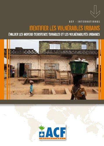 identifier les vulnérables urbains - Action Against Hunger