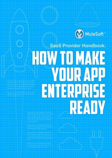 SaaS Provider Handbook - MuleSoft