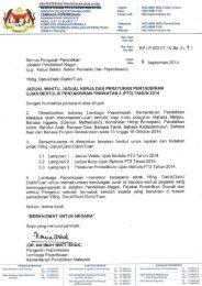 Surat Siaran Jadual Waktu Jadual Kerja Peraturan Pentadbiran Ujian Bertulis PT3 Tahun 2014