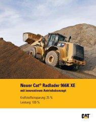 Neuer Cat® Radlader 966K XE