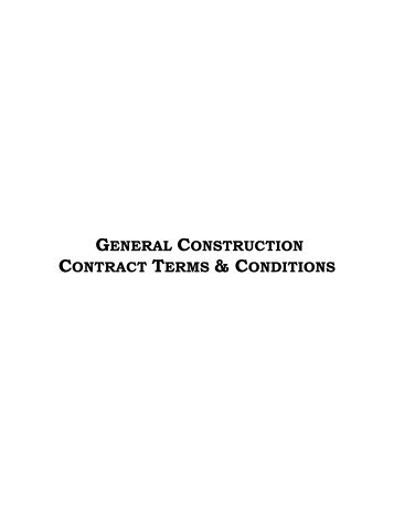 general construction contract terms & conditions - Horry County ...