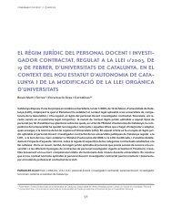 El règim jurídic del personal docent i investigador - Generalitat de ...