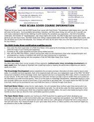 PADI SCUBA DIVER COURSE INFORMATION - Coral Divers