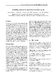 Simulating distributed algorithms for lattice agents Abstract ...
