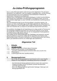 Ju-Jutsu-Prüfungsprogramm - Jujutsu-bremen.de
