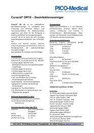 Curacid® DR10 – Desinfektionsreiniger - PICO-Medical GmbH