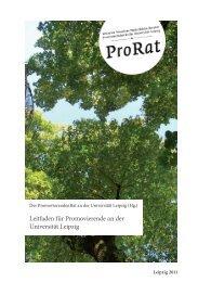 Der Promotionsleitfaden - Der PromovierendenRat - Universität ...