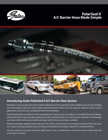 Gates AC Hose & Fitting Quick Reference Catalog - Drive Train ...