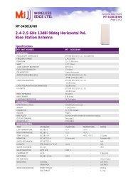 2.4-2.5 GHz 13dBi 90deg Horizontal Pol. Base Station Antenna