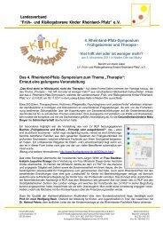 Bericht Symposium - Früh- und Risikogeborene Kinder Rheinland ...