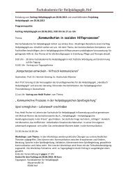 Fachakademie für Heilpädagogik, Hof