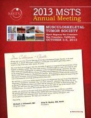 Preliminary Program - Musculoskeletal Tumor Society