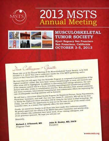 Preliminary Program - Musculoskeletal Tumor Society