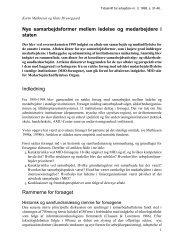 Nye samarbejdsformer mellem ledelse og ... - Nyt om Arbejdsliv