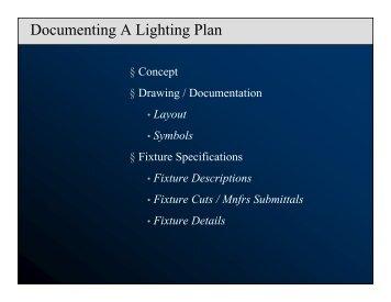 Documenting A Lighting Plan - RS Lighting Design