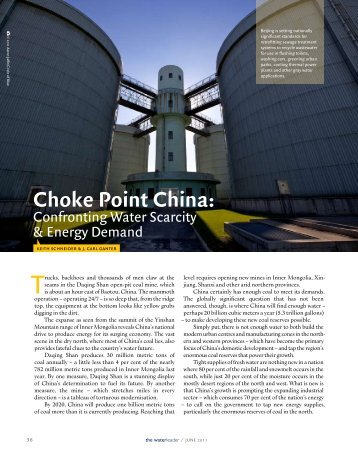 Choae Point China: - The Water, Energy and Food Security Nexus